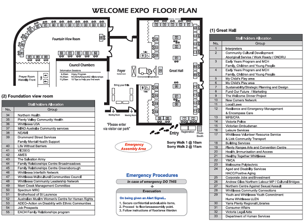 City of Whittlesea Welcome Expo Floor Plan