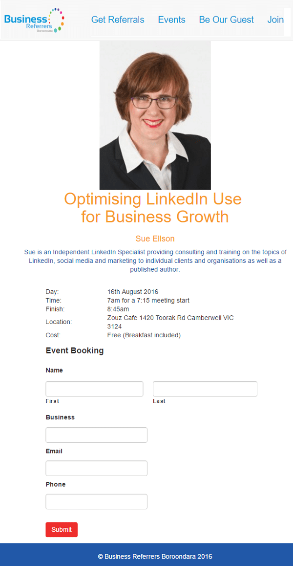 Business Referrers Boroondara Optimising LinkedIn Use for Business Growth