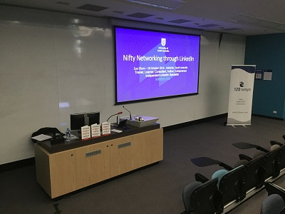 University of South Australia Nifty Networking Through LinkedIn Workshop Live Streamed