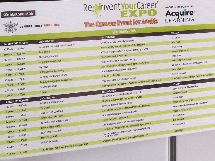 Reinvent Your Career Expo Sydney