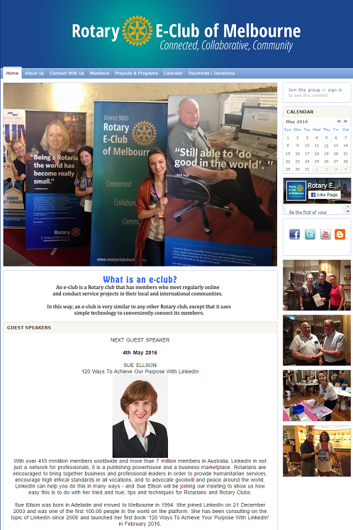 Rotary E-Club of Melbourne 20 Ways To Achieve Your Purpose With LinkedIn